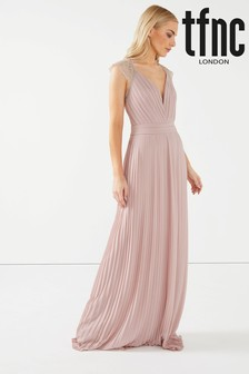 TFNC Maxi Dress With Scallop Lace