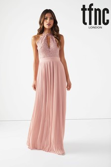 TFNC Lace High Neck Maxi Dress