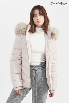 Miss Selfridge Padded Faux Fur Coat