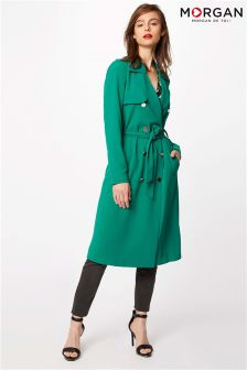 Morgan Trench Coat With Buttons