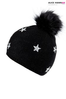 Alice Hannah Star Embellished Beanie