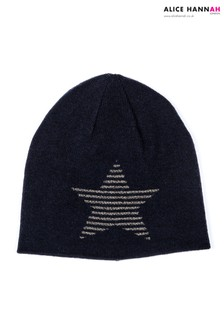 Alice Hannah Glitter Striped Star Beanie