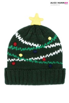 Alice Hannah Christmas Tree Knit Hat