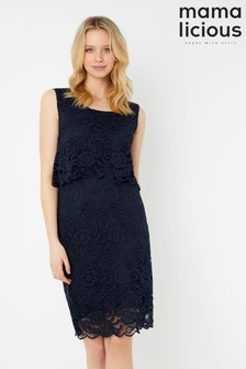 Mamalicious Maternity Lace Midi Dress