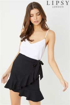 Lipsy Rara Tie Mini Skirt