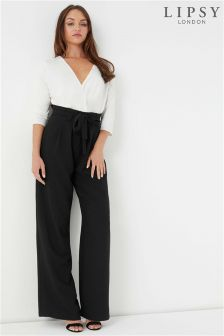 Lipsy High Waist Paperbag Wide Leg Trouser