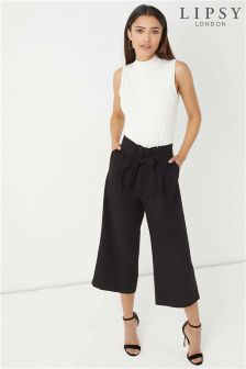 Lipsy High Waist Paperbag Culottes