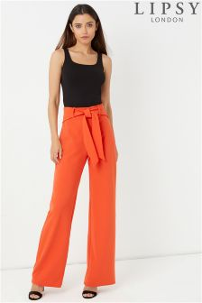 Lipsy Wide Leg Paperbag Trousers