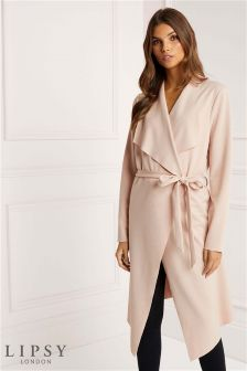 Lipsy Long Sleeve Belted Waterfall Jacket