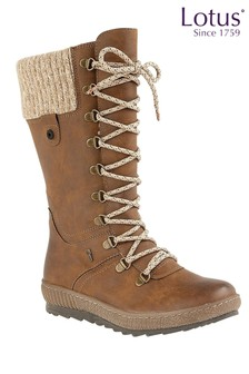 Lotus Lace Up Boots