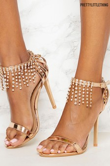 PrettyLittleThing Diamanté Heel Sandals