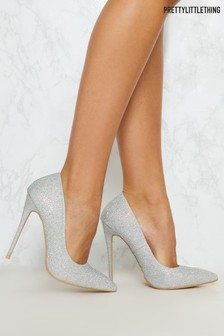 PrettyLittleThing Diamanté Court Heels