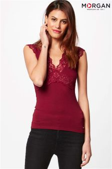Morgan Lace Detail T-Shirt