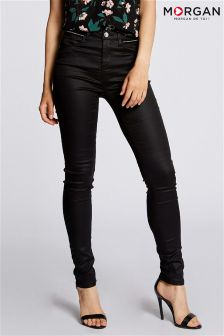 Morgan Stud Detail Coated Trousers