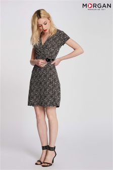 Morgan Wrap Print Dress