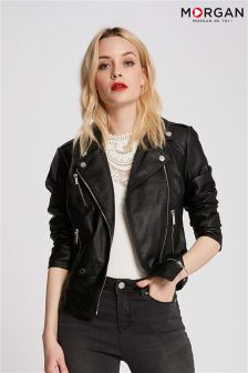 Morgan Faux Leather Biker Jacket