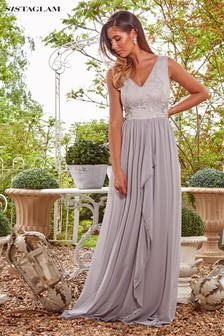 Sistaglam Loves Jessica Rose V Neck Maxi Dress