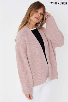 Fashion Union Chunky Rib Cardigan