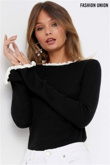 Fashion Union Rib Knit Jumper