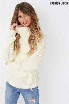 Fashion Union Belted Fisherman Jumper