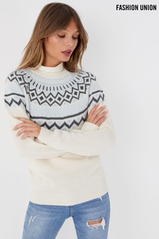 Fashion Union Fairisle Jumper