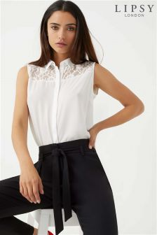 Lipsy Lace Insert Sleeveless Shirt