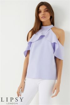 Lipsy Ruffle High Neck Blouse