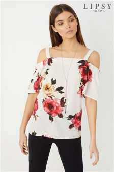 Lipsy Floral Necklace Top