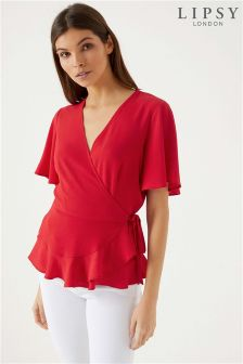 Lipsy Short Sleeve Wrap Blouse