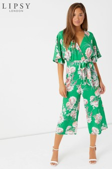 Lipsy Floral Printed Cullotte Jumpsuit