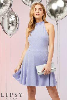 Lipsy Glitter Skater Dress