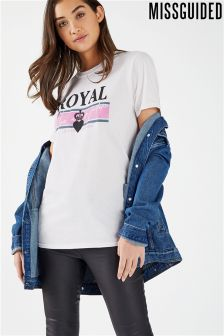 Missguided Royal Logo Tee