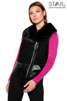 Star By Julien Macdonald Faux Fur Collar Gilet
