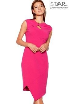 Star By Julien Macdonald Twist Front Asymmetric Dress