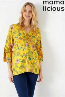 Mamalicious Maternity Three-Quarter Sleeves Woven Top