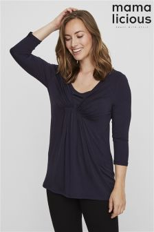 Mamalicious Nursing Three-Quarter Jersey Top