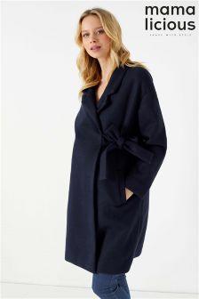 Mamalicious Maternity Haze Long Sleeve Coat