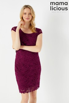 Mamalicious Maternity Nursing Lace Midi Dress
