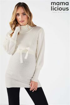 Mamalicious Maternity Long Sleeve Knit Blouse