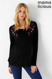Mamalicious Maternity Nursing Embroidered Top