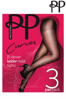 Pretty Polly Curves Nude Ladder Resist Tights