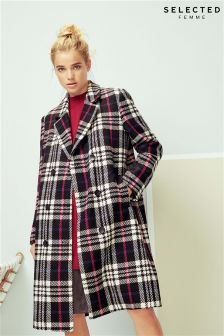 Selected Femme Check Coat