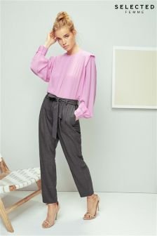 Selected Femme Tie Waist Trousers