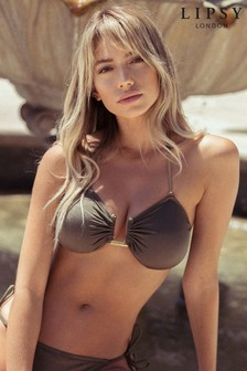 Lipsy Hardware Bandeau Bikini Top