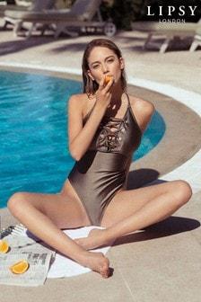 Lipsy Eyelet Swimsuit