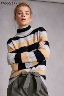 Selected Femme Stripe Knit Jumper