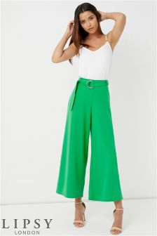 Lipsy Green D Ring Culottes