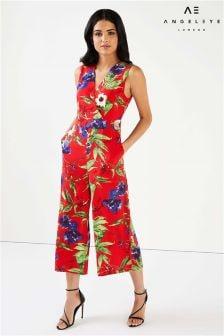 Angeleye Floral Culotte Jumpsuit