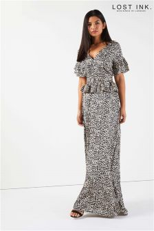 Lost Ink Printed Maxi Dress