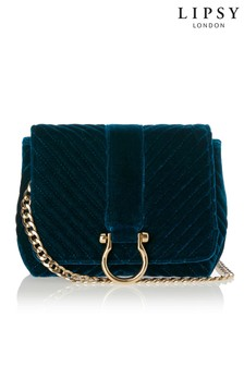 Lipsy Velvet Chain Cross Body Bag